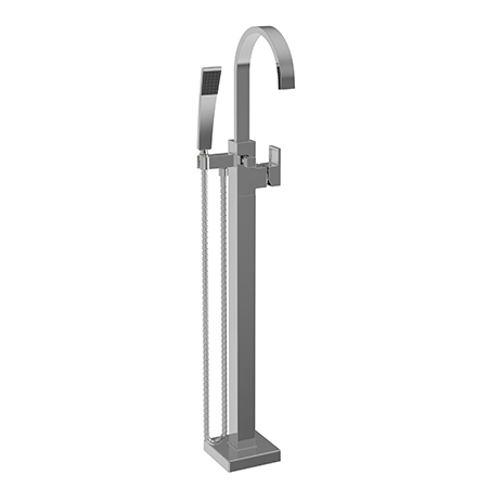 Secant Exposed Tub And Hand Shower Set Free Standing