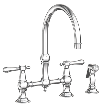 Chesterfield Kitchen Bridge Faucet With Side Spray