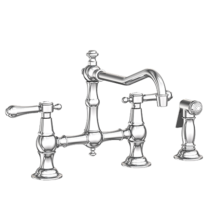 Chesterfield Kitchen Bridge Faucet With Side Spray 9462