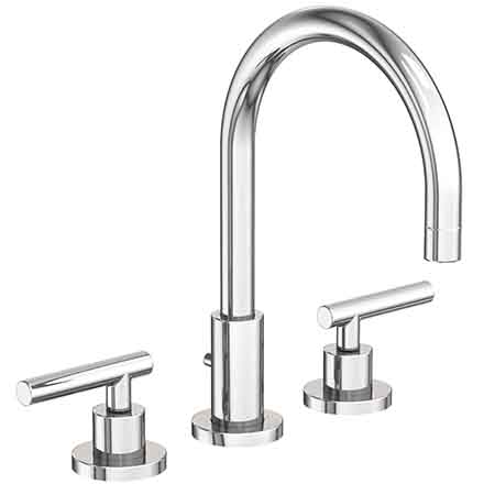 East linear widespread lavatory faucet 990l for Newport bathroom fixtures