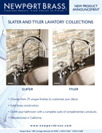 Newport Brass Slater & Tyler Lavatory Collections